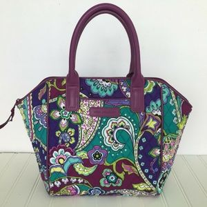 Vera Bradley Heather Purse  Quilted Paisley 10x15
